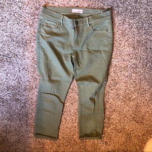 Loft green jeans